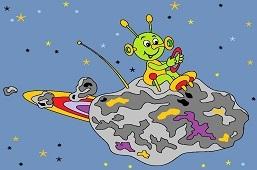 Obcy leci na asteroidzie