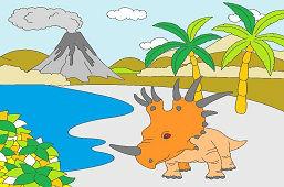 Styrakozaur w przyrodzie