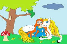 Księżniczka i biały koń