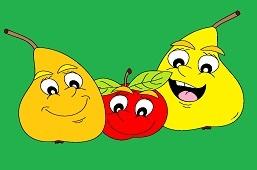 Szczęśliwe gruszki i jabłko