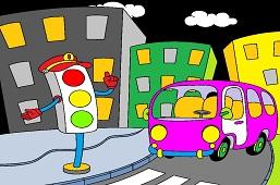 Autobus i sygnalizacja świetlna