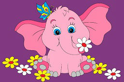 Słoń z motylem