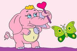 Słoń i motylek