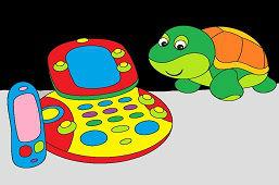 Żółw i komputer dla dzieci