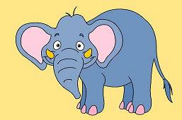 Uśmiechnięty słoń