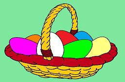 Wielkanocny koszyk z jajkami