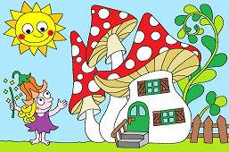 Bajkowa wróżka i jej dom