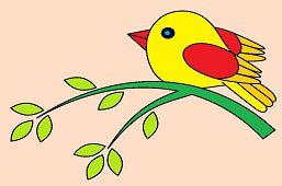 Ptaczek na gałązce