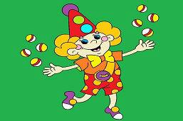 Żonglujący klaun