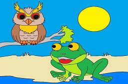Żaba i mądra sowa