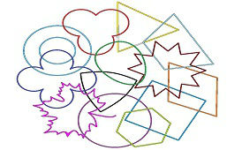 Mieszanka kształtów geometrycznych