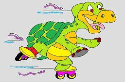 Żółw na łyżwach