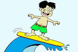 Młody surfer