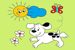 Pies i motyl