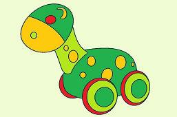 Drewniany dinozaur