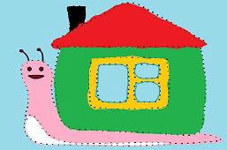Ślimak z domkiem